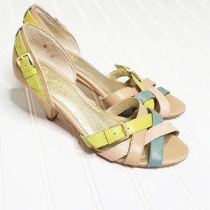Seychelles | Multicolor Leather Heel Sandals | 8